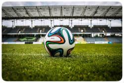 Ball im Stadion
